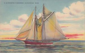 Massachusetts Gloucester Fishing Schooner 1944