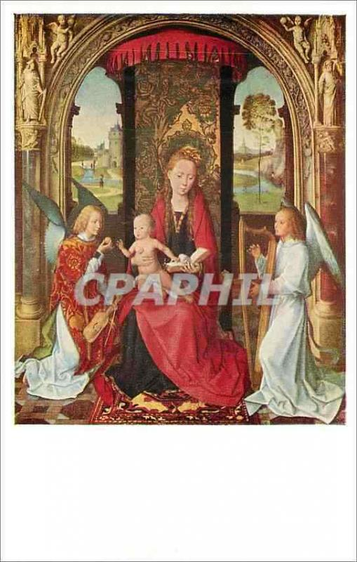 CPA Madonna and  child with angels by memling(1430 1435 1494) mellon collection