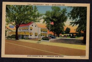 NJ Cranbury Inn Hwy 25 NEW JERSEY Postcard Post Card PC