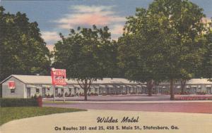 Wildes Motel, STATESBORO, Georgia, 30-40s