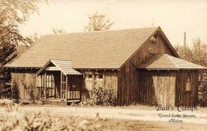 LP48  Grand Lake Stream Maine Ball's Camps   RPPC Postcard