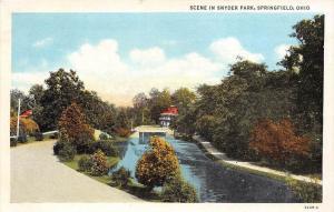 Ohio  Springfield    Bridge and River in Snyder Park