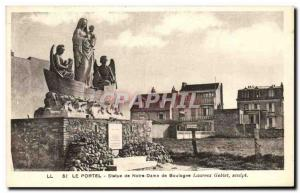 Old Postcard Le Portel Statue of Our Lady of Boulogne Laurent Goblet Sculpt