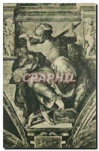 Postcard Old Citta del Vaticano Cappelle Sistina Michelangelo's Libyan Sibyl