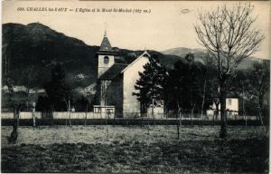 CPA AK CHALLES-les-EAUX - L'Église et le Mont St-MICHEL (887 m) (651188)
