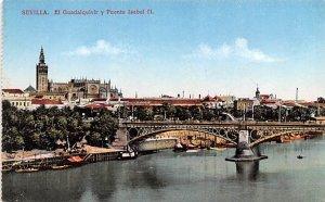 El Guadalquivir y Puente Isabel II Sevilla Spain Unused