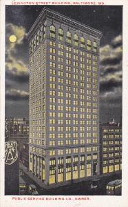 BALTIMORE, Maryland,00-10s;Lexington Street Building, Public Service Building Co