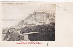 Chateau From Laval University, CHATEAU FRONTENAC, Quebec, Canada, 1910-1920s