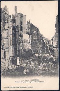 View of Bombardment Mezieres France Unused c1905s