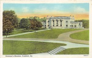 Frankfort Kentucky~Governor's Mansion & Grounds~Ionic Greek Columns~1940s Pc