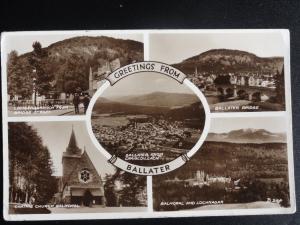 GREETINGS from BALLATER 5 Picture Multiview c1954 RP