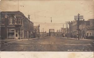 Greene IA~Main Street Bridge~Clothing Store~Coleason Druggist~Jackson~1907 RPPC