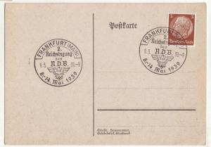 P1183 1939 wwII nazi germany swastikas frankfurt [main] cancel with stamp