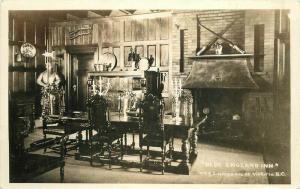 BC Canada Olde England Inn Lampson St Victoria 1940s Postcard RPPC 1826