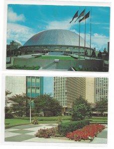 2 Pittsburgh PA Postcards Public Auditorium Sports Arema Equitable Plaza 1960s