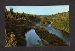 NB Teteagouche River Bathurst New Brunswick Canada Carte Postale Postcard