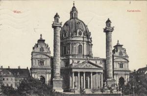 Wien  , Austria , PU-1912 ; Karls kirche