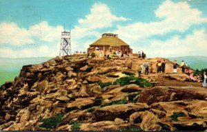 New York Adirondacks Whiteface Mountain Summit House and Fire Observation Tow...
