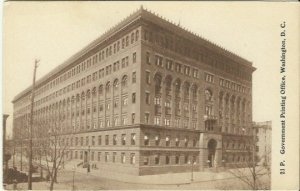 Antique Postcard, Government Printing Office in Washington D. C. 1900 - 1906,