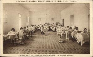 Child Labor Social History Tunisia Mission - Carthage France Orphanage Postcard