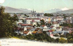 Switzerland Geneve Vue Generale et le Mont Blanc Postcard