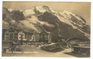 Kleine Scheidegg u. Jungfrau, Hotel & Train Station , Bernese Oberland, Switz...