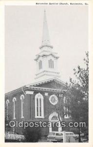 Churches Vintage Postcard Warrenton, VA, USA Vintage Postcard Warrenton Bapti...