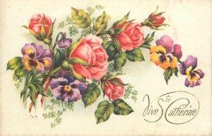 Postcard Greetings flowers