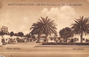 Phoenix AZ McCoy's Motel~Electric Refrigeration c1910 Sepia~Wingfield, Elks, WV