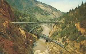 USA Pulga Bridges in the Feather River Canyon California 04.73