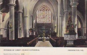 Interior Of Christ Church Cathedral, Fredericton, New Brunswick, Canada, 1900...