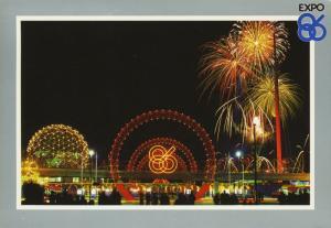 Expo 86 Expo Centre Vancouver BC Worlds Fair Exposition Vintage Postcard D20