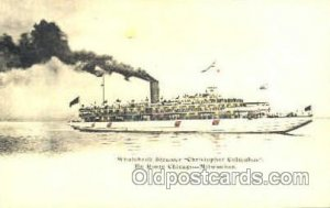 Whaleback Steamer Hold to Light Postcard Postcards Unused