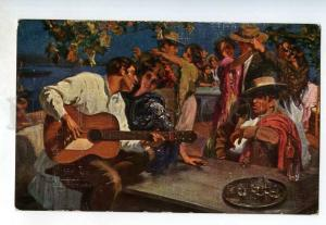 249263 RIBERA spanish nights DANCERS guitar OLD Russian Lapin