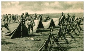 WW 1  Soldiers making camp