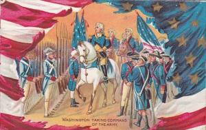 George Washington Taking Command Of The Army 1911