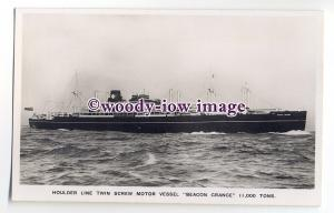 cb0892 - Houlder Line Cargo Ship - Beacon Grange , built 1938 - postcard