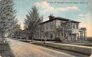 National Soldiers Home Virginia H M Barracks Antique Postcard K106404
