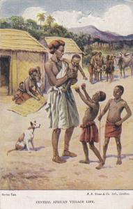 Central African Village Life , 1910s