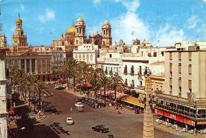 Spain Cadiz San Juan de Dios Square, Plaza Auto Vintage Cars Voitures