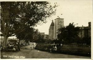 china, SHANGHAI, The Bund Park (1920s) RPPC Postcard