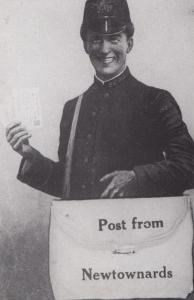 Post From Newtownards Irish Postman Reproduction Advertising Postcard