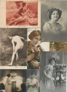 Lot of Victorian Style Romantic Woman Theme Postcards of 20   01.16