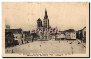 Lisieux - Place Thiers - The Cathedral and the Post - Old Postcard