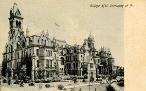 PA - Philadelphia. University of Pennsylvania, College Hall    (glitter)
