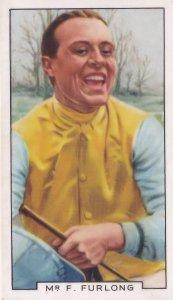 Frank Furlong Steeplechase Horse Race Racing Jockey 1930s Cigarette Card