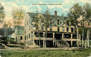 Berry Paper C-1910 Hotel Rockwood Maine Postcard 1395