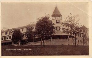 E31/ LockLynn Maryland Md Postcard 1910 Loch Lynn Hotel Building