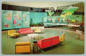 Hershey Pennsylvania~Hershey Corp. Visitors Center~Interior~World Map~1971