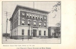 Brooklyn New York Police Station Street View Antique Postcard K670978